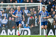 Aaron Mooy (Brighton) & Dan Burn (Brighton) during the Premier League match between Brighton and Hove Albion and Crystal Palace at the American Express Community Stadium, Brighton and Hove, England on 29 February 2020.