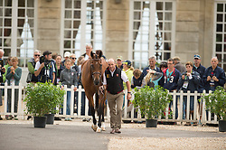 Joris Van Springel, (BEL), Lully Des Aulnes - First Horse Inspection  - Alltech FEI World Equestrian Games™ 2014 - Normandy, France.<br /> © Hippo Foto Team - Shannon Brinkman<br /> 25/06/14