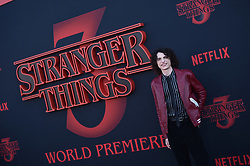 """Finn Wolfhard attends the premiere of Netflix's """"Stranger Things"""" Season 3 on June 28, 2019 in Santa Monica, CA, USA. Photo by Lionel Hahn/ABACAPRESS.COM"""