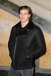 Toby Huntington-Whiteley on the front row during the Julien Macdonald Autumn/Winter 2017 London Fashion Week show at Goldsmith's Hall, London.PRESS ASSOCIATION Photo. Picture date: Saturday February 18th, 2017. Photo credit should read: Matt Crossick/PA Wire.