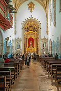 Interior of the Santa Cruz Monastery (Church of the Holy Cross) in Coimbra, Portugal, founded in 1131