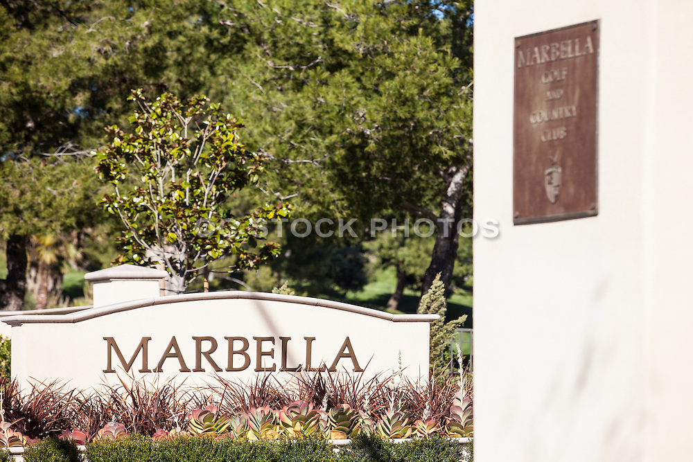 Marbella Golf And Country Club Of San Juan Capistrano California