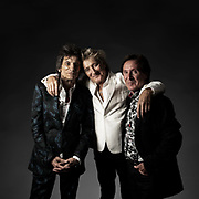 Faces - Portrait with Rod Stewart, Ronnie Wood and Kenney Jones