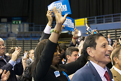 © Licensed to London News Pictures. 5/5/2017. Birmingham, UK. Birmingham Mayor Election results held at the Barclaycardarena, Birmingham. Pictured, Conservative canidate ANDY STREET is confirmed as the new Mayor of The West Midlands Combined Authority. Photo credit : Dave Warren/LNP