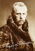 Fridtjof Nansen, old postcard of famous Norwegian Arctic explorer circa 1900