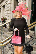 Tara O Brien, Foxrock Dublin at Hotel Meyrick in Eyre Sq. Galway for their best dressed Lady Competition during Galway's Race week . Photo:Andrew Downes.