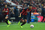 Lys Mousset (9) of AFC Bournemouth on the attack during the The FA Cup 3rd round match between Bournemouth and Brighton and Hove Albion at the Vitality Stadium, Bournemouth, England on 5 January 2019.