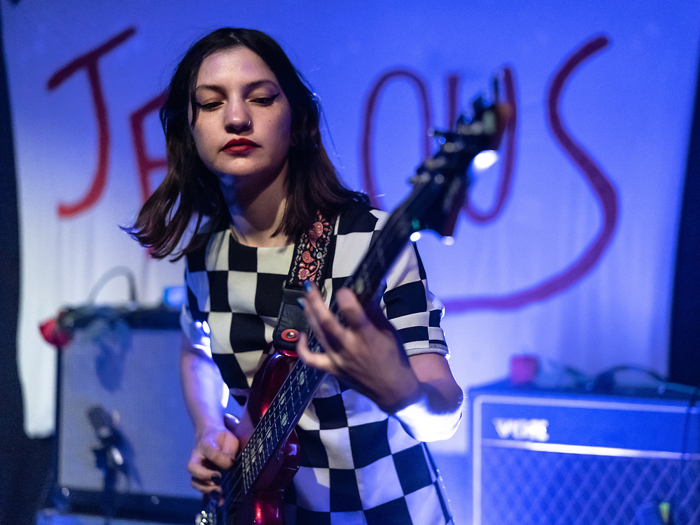 Dane Joe of glam-rock band Jealous supporting Gurr at Kulturclub schon schön in Mainz