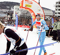 Langrenn Klassisk Sprint 1,2km , FIS World Cup Cross-Country , Drammen 05. Mars 2008 , Odd-Bjørn Hjelmeset gikk videre fra prolog til kvartfinale og da ble han glad , Foto: Thomas Andersen , Digitalsport