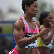 Natasha Hastings, USA, in action during the Women's 400m at the Diamond League Adidas Grand Prix at Icahn Stadium, Randall's Island, Manhattan, New York, USA. 25th May 2013. Photo Tim Clayton