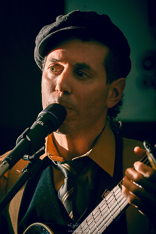 Jacopo Di Nicola during a performance of The Late Saints at The Bus Stop Music Cafe in Pitman, NJ.