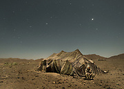 Chief of camp. Night shot of nomad camp on edge of Lut Desert.