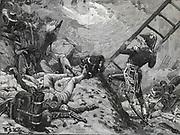 Napoleonic Wars:  Jean Lannes, Duke of Montebello (1769-1809)at French attack on Ratisbon.