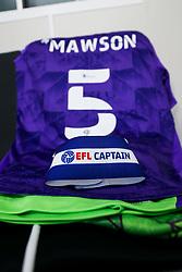 Captains armband for Alfie Mawson in the Bristol City dressing room - Rogan/JMP - 20/09/2020 - Bet365 Stadium - Stoke, England - Stoke City v Bristol City - Sky Bet Championship.
