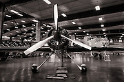 Inside the hangar at Erickson Aircraft Collection during the Airshow of the Cascades.