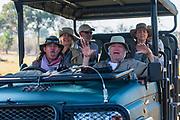 Photographer group on safari in the Okanvago Delta, vehicle, Moremi,  Botswana