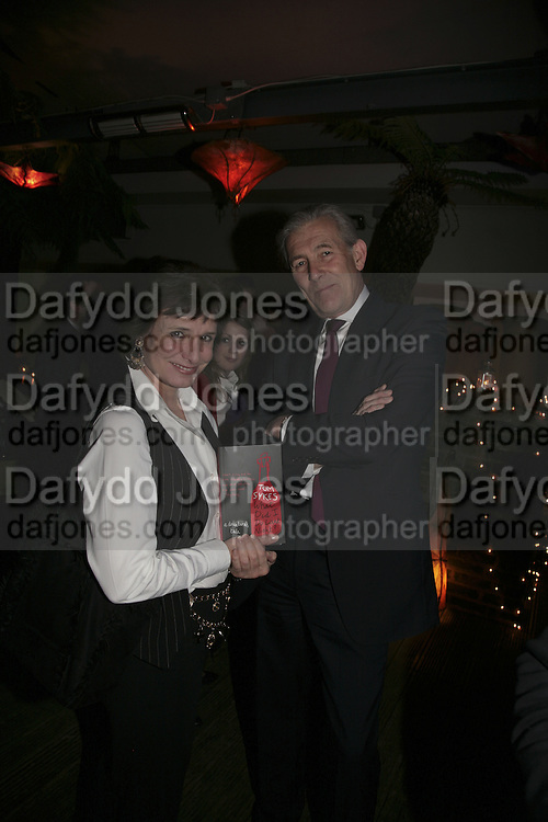 Georgina Boothby and Geoff Goad,  Book launch for ' What Did I Do last night' by Tom Sykes. Century Club. Shaftesbury Ave. London. 16 January 2006. -DO NOT ARCHIVE-© Copyright Photograph by Dafydd Jones. 248 Clapham Rd. London SW9 0PZ. Tel 0207 820 0771. www.dafjones.com.