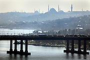 view of Istanbul from Golden Horn upriver near the Pierre Loti house viewing point