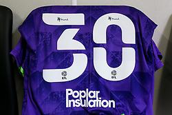 Tyreeq Bakinson's shirt in the Bristol City dressing room - Rogan/JMP - 20/09/2020 - Bet365 Stadium - Stoke, England - Stoke City v Bristol City - Sky Bet Championship.