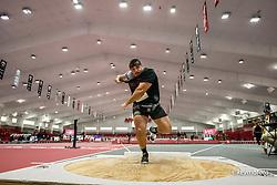 American Track League<br /> ESPN Indoor #2 track and field meet<br /> Ponzio, shot put