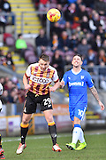 Bradford City defender Anthony McMahon (29) during the EFL Sky Bet League 1 match between Bradford City and Gillingham at the Coral Windows Stadium, Bradford, England on 4 February 2017. Photo by Ian Lyall.