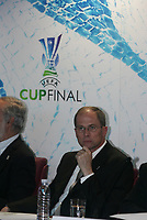 """PORTUGAL - LISBOA 26 NOVEMBER 2004:  LARS-CRISTER OLSSON, UEFA CEO in the official presentation of the UEFA CUP FINAL 2005 to be held in """"Alvalade XXI"""" home of the Lisbon squad Sporting CP, that is participating this year on the UEFA Cup. The presentation was held in the new building of the Portuguese Soccer Federation,  26/11/2004  11:35:57<br />(PHOTO BY: NUNO ALEGRIA/AFCD)<br /><br />PORTUGAL OUT, PARTNER COUNTRY ONLY, ARCHIVE OUT, EDITORIAL USE ONLY, CREDIT LINE IS MANDATORY AFCD-PHOTO AGENCY 2004 © ALL RIGHTS RESERVED"""