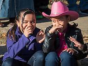The Los Vaqueros Trail Ride passes Anderson Elementary School, February 26, 2016.