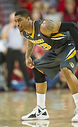 Feb 16, 2013; Fayetteville, AR, USA; Missouri Tigers guard Earnest Ross (33) prepares to defend during a game against the Arkansas Razorbacks at Bud Walton Arena. Arkansas defeated Missouri 73-71. Mandatory Credit: Beth Hall-USA TODAY Sports