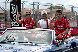 October 21, 2018 - Gold Coast, QLD, U.S. - GOLD COAST, QLD - OCTOBER 21: Simona De Silvestro and Alex Rullo in the Team Harvey Norman Nissan Ultima during the parade lap at The 2018 Vodafone Supercar Gold Coast 600 in Queensland, Australia. (Photo by Speed Media/Icon Sportswire) (Credit Image: © Speed Media/Icon SMI via ZUMA Press)