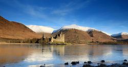 Kilchurn Castle, Loch Awe at sunrise on cold crisp winters morning.. (c) Stephen Lawson | Edinburgh Elite media
