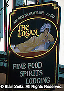 Hotel Sign, The Logan Inn, New Hope, Bucks, Co., PA