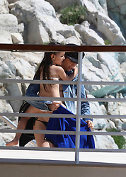 Please hide the child's face prior to the publication - Actress Charlotte Gainsbourg is seen swimming in a pool with her daughter Jo during the 70th Cannes Film Festival in Cannes, France on may 19, 2017. NO CREDIT
