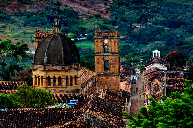 Colombia, Barichara, Colonial Town, National Monument, Santander Province, 18th Century Cathedral de la Immaculada Concepcion