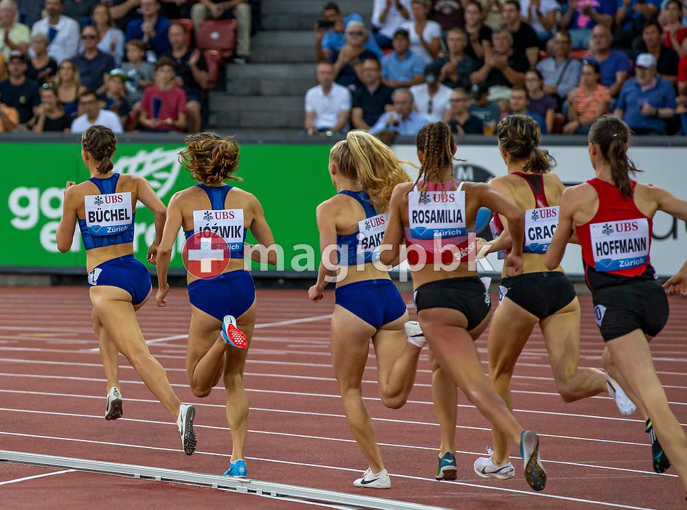 Women's 800m during the Iaaf Diamond League meeting (Weltklasse Zuerich) at the Letzigrund Stadium in Zurich, Switzerland, Thursday, Aug. 29, 2019. (Photo by Patrick B. Kraemer / MAGICPBK)