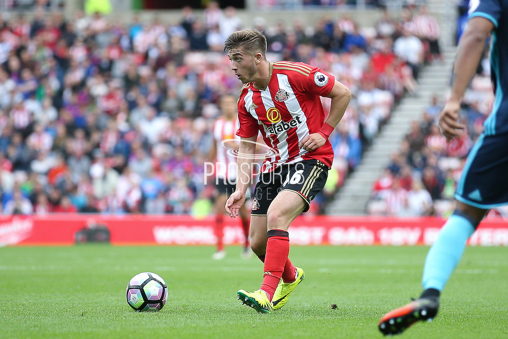Sunderland forward Lynden Gooch (46)  during the Premier League match between Sunderland and Middlesbrough at the Stadium Of Light, Sunderland, England on 21 August 2016. Photo by Simon Davies.