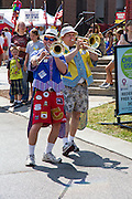 "Indiana State Fair The ""Sidewalk Stompers"" clown band"