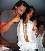 **EXCLUSIVE**.Olivier Martinez & Michelle Rodriguez.P. Diddy Party .VIP Room Nightclub.St. Tropez, France.Tuesday, July, 27, 2004.Photo By Celebrityvibe.com/Photovibe.com, New York, USA, Phone 212 410 5354, email:sales@celebrityvibe.com...