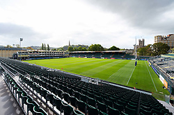 A general view of the Recreation Ground pitch - Mandatory byline: Patrick Khachfe/JMP - 07966 386802 - 28/09/2019 - RUGBY UNION - The Recreation Ground - Bath, England - Bath Rugby v Worcester Warriors - Premiership Rugby Cup