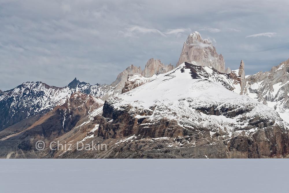 Fitzroy looms imposingly above Cerro Pollone