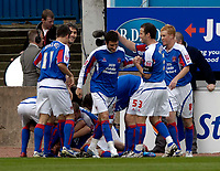 Photo: Jed Wee/Sportsbeat Images.<br /> Carlisle United v Bristol City. Coca Cola League 1. 21/04/2007.<br /> <br /> Carlisle celebrate their opening goal.