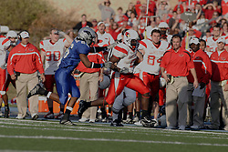 25 November 2006: Pierre Rembert makes his way up the field with Seymour Loftman at his heels. 