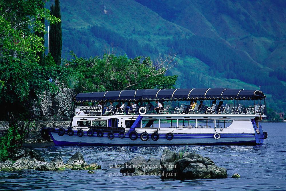 Ferry, Tuktuk, Lake Toba, North Sumatra, Indonesia.