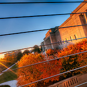 The Nelson Atkins Museum of Art at Sunset in the fall of 2010.
