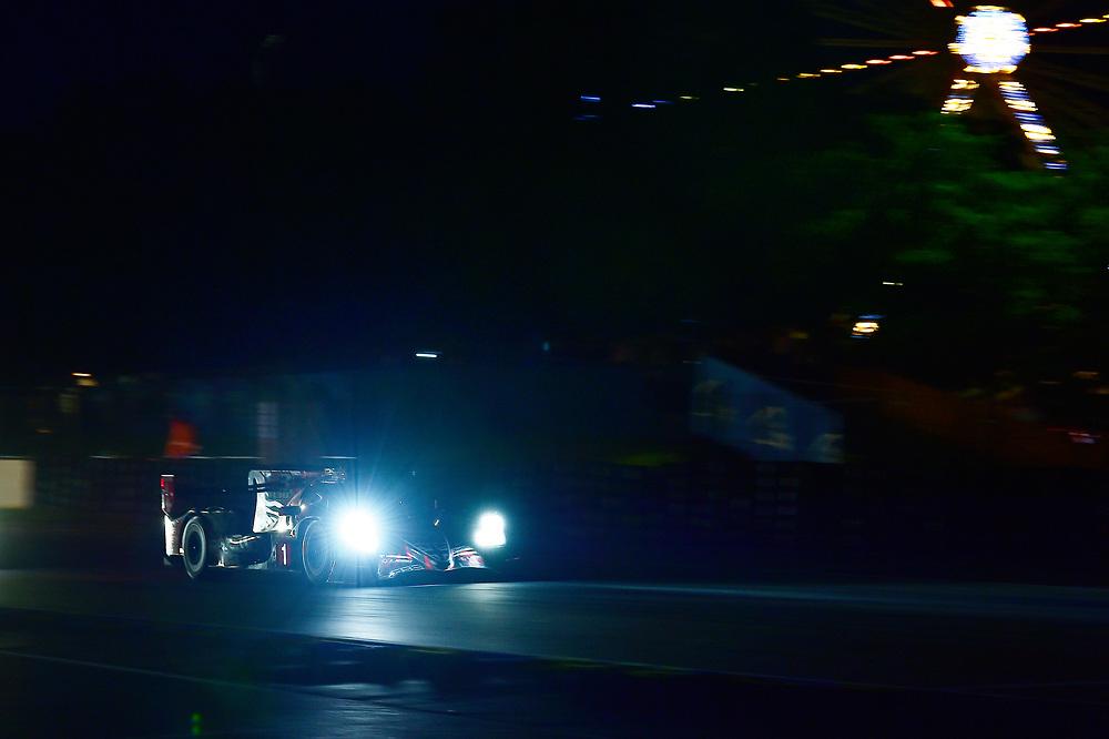 #1 Rebellion Racing Rebellion R-13: Andre Lotterer, Neel Jani, Bruno Senna<br /> Wednesday 13 June 2018<br /> 24 Hours of Le Mans<br /> 2018 24 Hours of Le Mans<br /> Circuit de la Sarthe  FR<br /> World Copyright: Scott R LePage