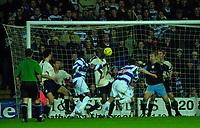 © Peter Spurrier/Sportsbeat Images <br />Tel + 441494783165 email images@sbimages.co.uk<br />29/11/2003 - Photo  Peter Spurrier<br />2003/04 Nationwide Football Div 2 QPR V Sheffield Wed<br />Tony Thorpe (No 9) scores Ranger's second goal