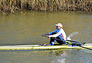 Boston, Great Britain. Women's Single Scull GBR W1X . Francis HOUGHTON,  compete's in the 2013 GBRowing second assessment, Boston Rowing Club, River Witham, Lincolnshire.    Saturday  09/02/2013   [Mandatory Credit. Peter Spurrier/Intersport Images]