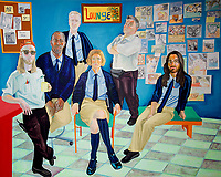 Tate Liverpool exhibition of Liverpool NHS worker portraits by Aliza Nisenbaum  the exhibition celebrates Merseyside NHS workers=