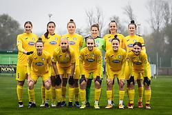 Team of ZNK Pomurje before  football match between ŽNK Pomurje and ŽNK Krim in 12th Round of Slovenska ženska nogometna liga 2020/21, on November 15, 2020 in TŠC Trate, Gornja Radgona, Slovenia. Photo by Blaž Weindorfer / Sportida