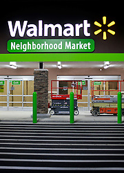 30 December 2014. Niceville Louisiana. <br /> A new Walmart Neighborhood Market gets set to open in the new year.<br /> Photo; Charlie Varley/varleypix.com