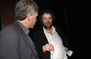Richard Brook and Stephen Poliakoff . Blackbird press night,  Mint Leaf. London. 13 February 2006. ONE TIME USE ONLY - DO NOT ARCHIVE  © Copyright Photograph by Dafydd Jones 66 Stockwell Park Rd. London SW9 0DA Tel 020 7733 0108 www.dafjones.com